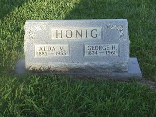 George and Alda McCoy Honig's Tombstone