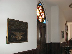 Honig Plaques in Salem United Church of Christ in Huntingburg, Indiana